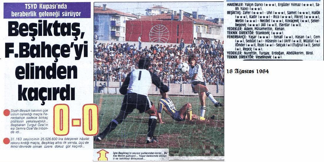 Besiktas 1984 - 1985