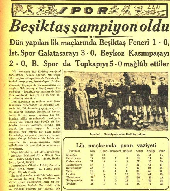 Besiktas 1940 - 1941 sezonu