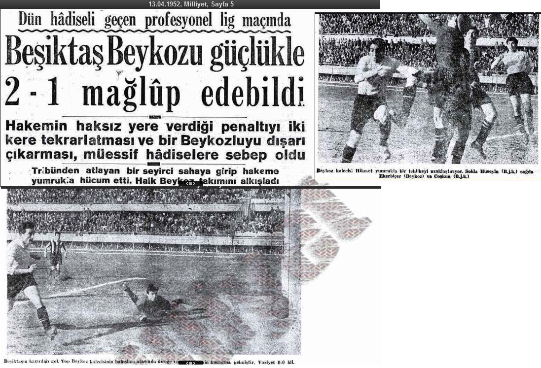 Besiktas 1952 sezonu